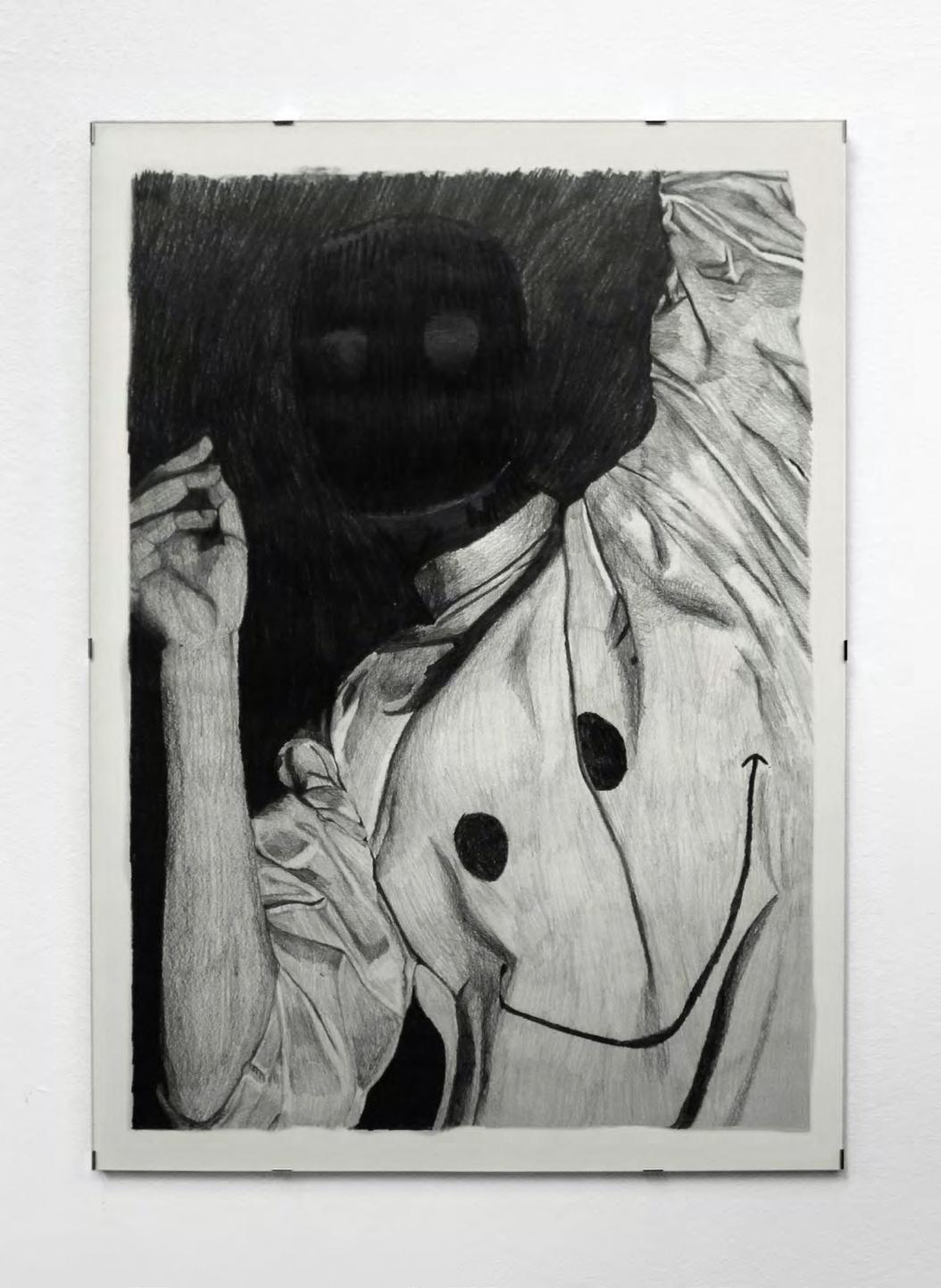 Louise Guerraud,  A mob rises from the mud , 2018, série de 8 déssins (50 x 70 cm), graphite