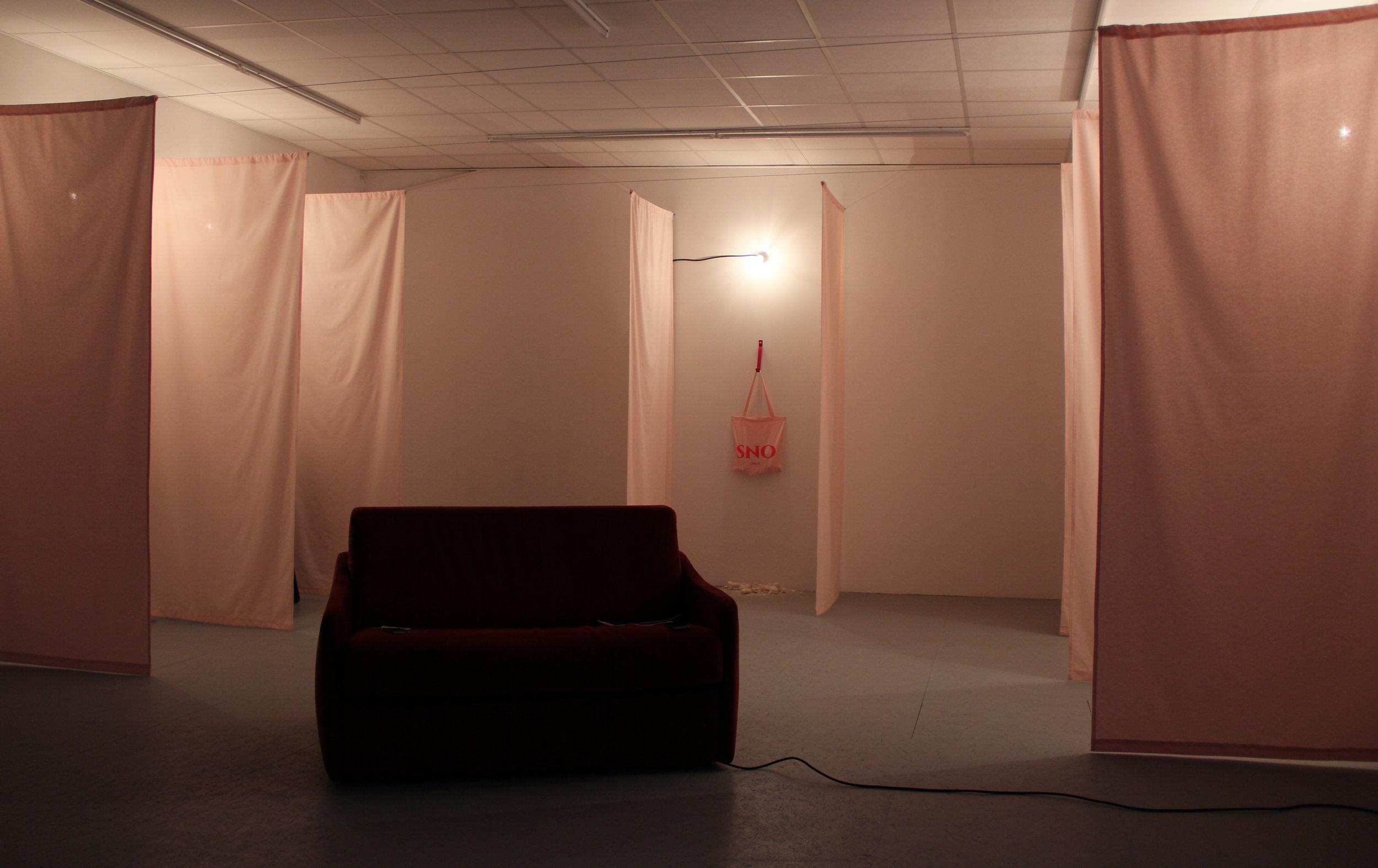 Installation view of Pauline Gompertz's solo exhibition at Galerie Marchepied