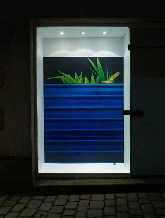 Martin Boissard , Vue de l'exposition « Inoxydable » à Sill 2018, acrylique sur toile, 200 x 150 cm, crédit photographique : Quentin Bordes