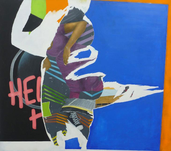 Martin Boissard,  La chute,  2013, acrylique sur toile, 140 x 160,5 cm