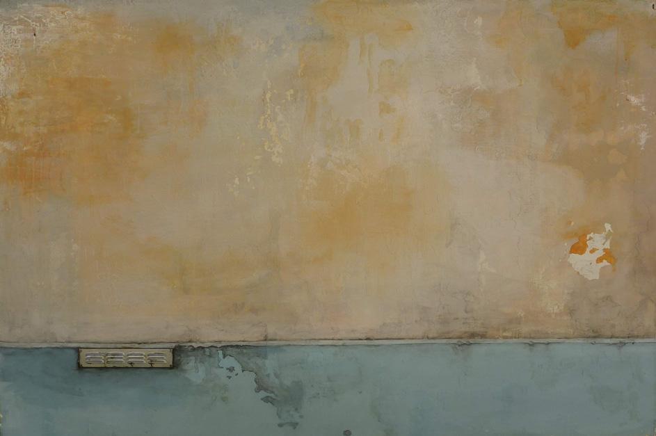 Martin Boissard,  Vestige ,  2012-2013, acrylique, acide et plaque, d'aluminium sur toile, 120 x 180 cm