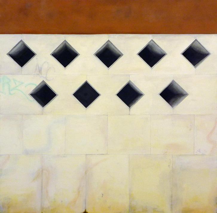 Martin Boissard,  Venezia ,  2012, acrylique sur toile150 x 150 cm