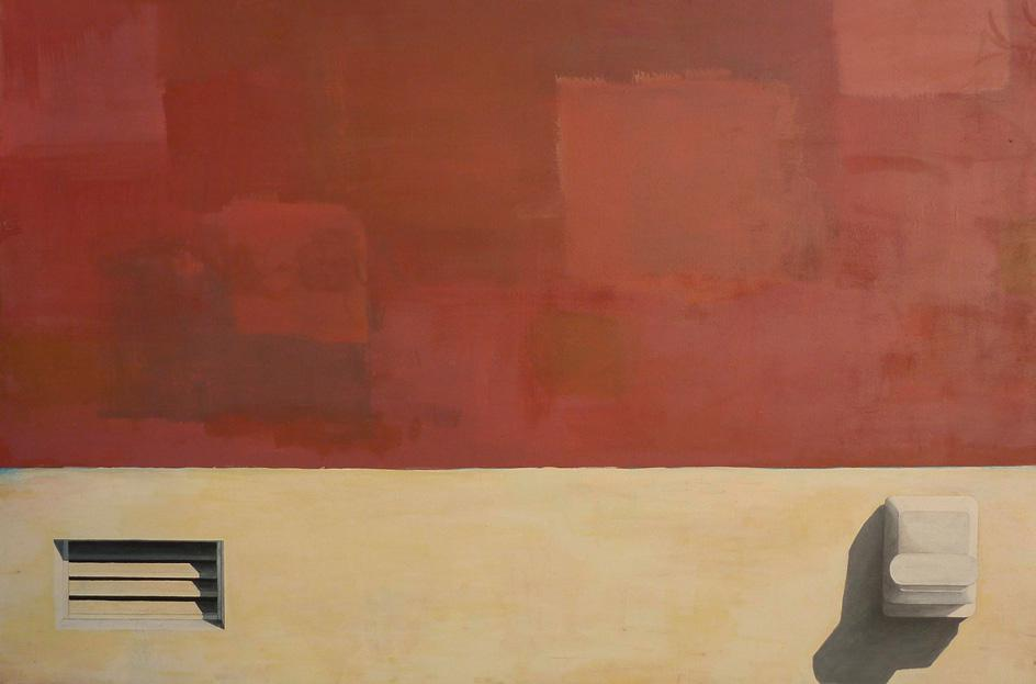Martin Boissard,  Palimpseste ,  2011, acrylique sur toile, 119 x 180 cm