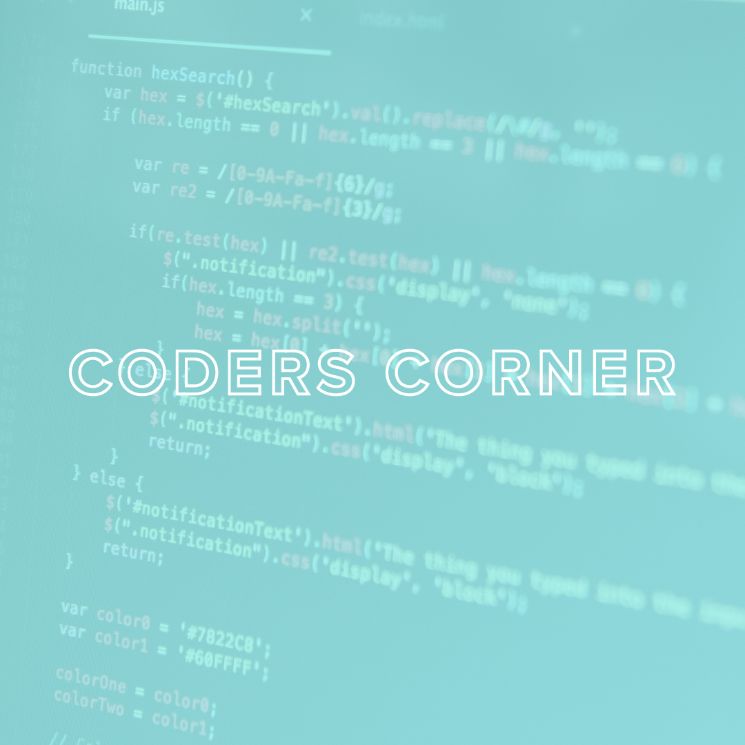 You Are Tech Coders Corner