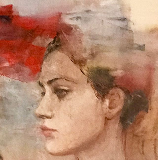 """""""Pasajeros del tiempo"""" . . . . #art #arte #uruguay #artgallery #galeria #pintura #retrato #portrait #intaart"""