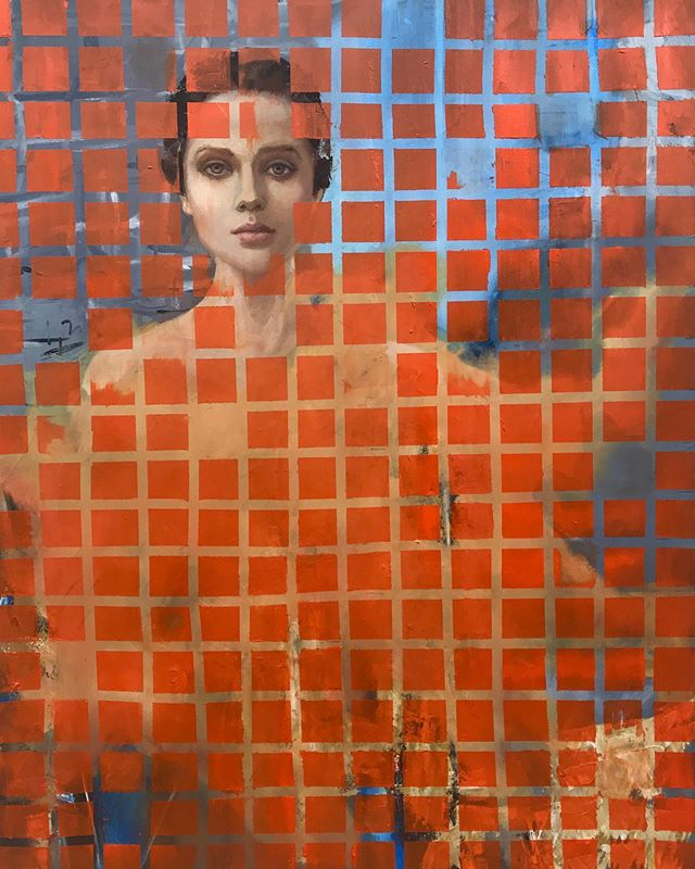 """n-u-m"" . . . . #art #arte #pintura #uruguay #instaartist #galeria #artgallery #portrait #retratocontemporaneo #design #interiordesign"