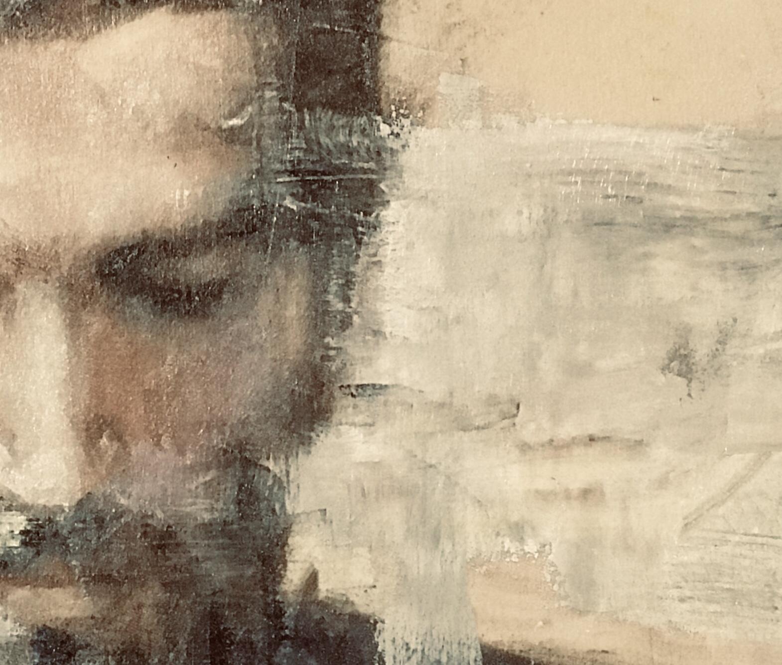 """Serie """"Pasajeros del tiempo """" oil on canvas 1.20m x 1.00m 2019"""