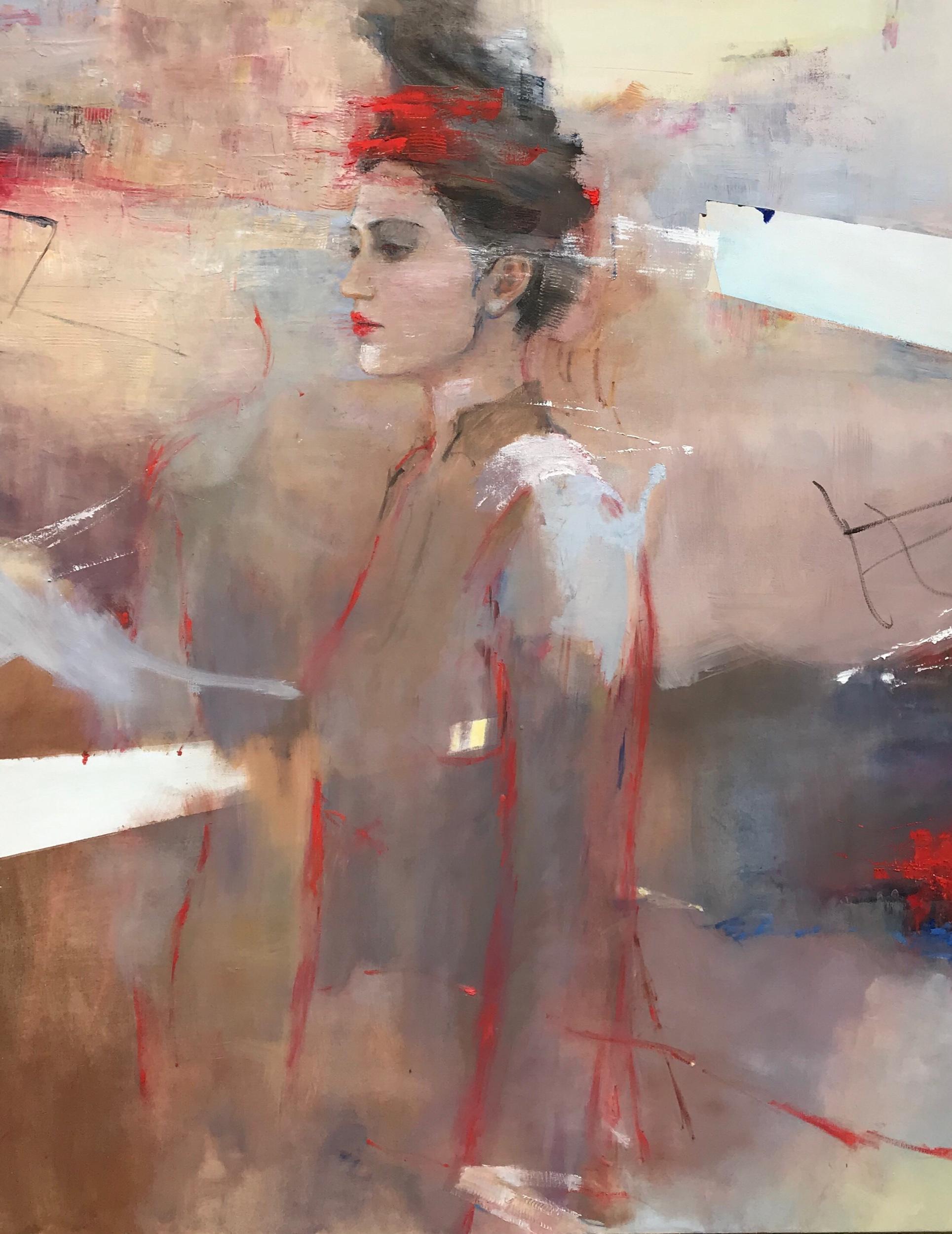 """Serie """"Pasajeros del tiempo """" oil on canvas 1.50m x 1.20m 2019"""