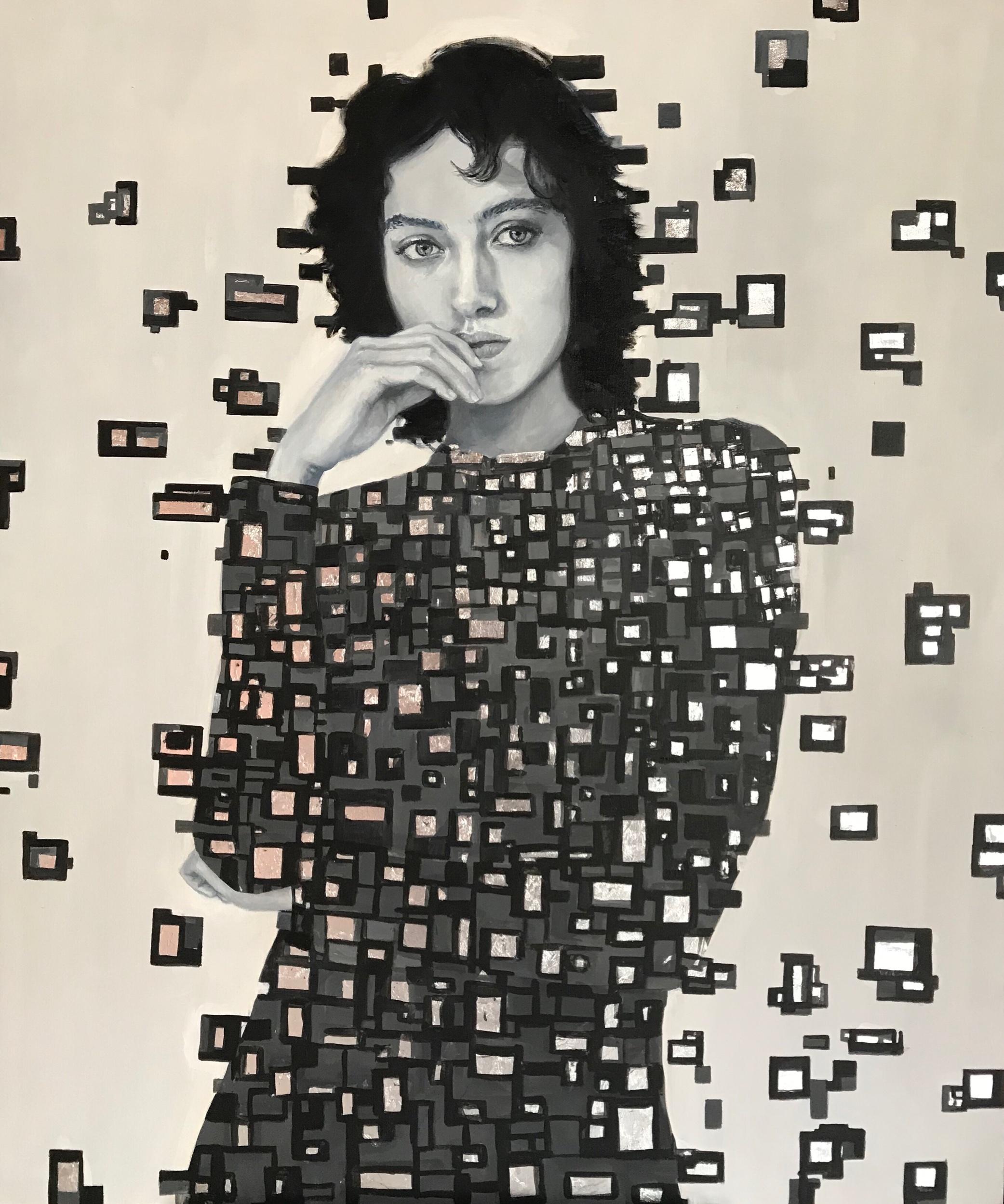 """""""Cuando se está y no se está"""" oil on canvas 1.40m x 1.20m 2019"""