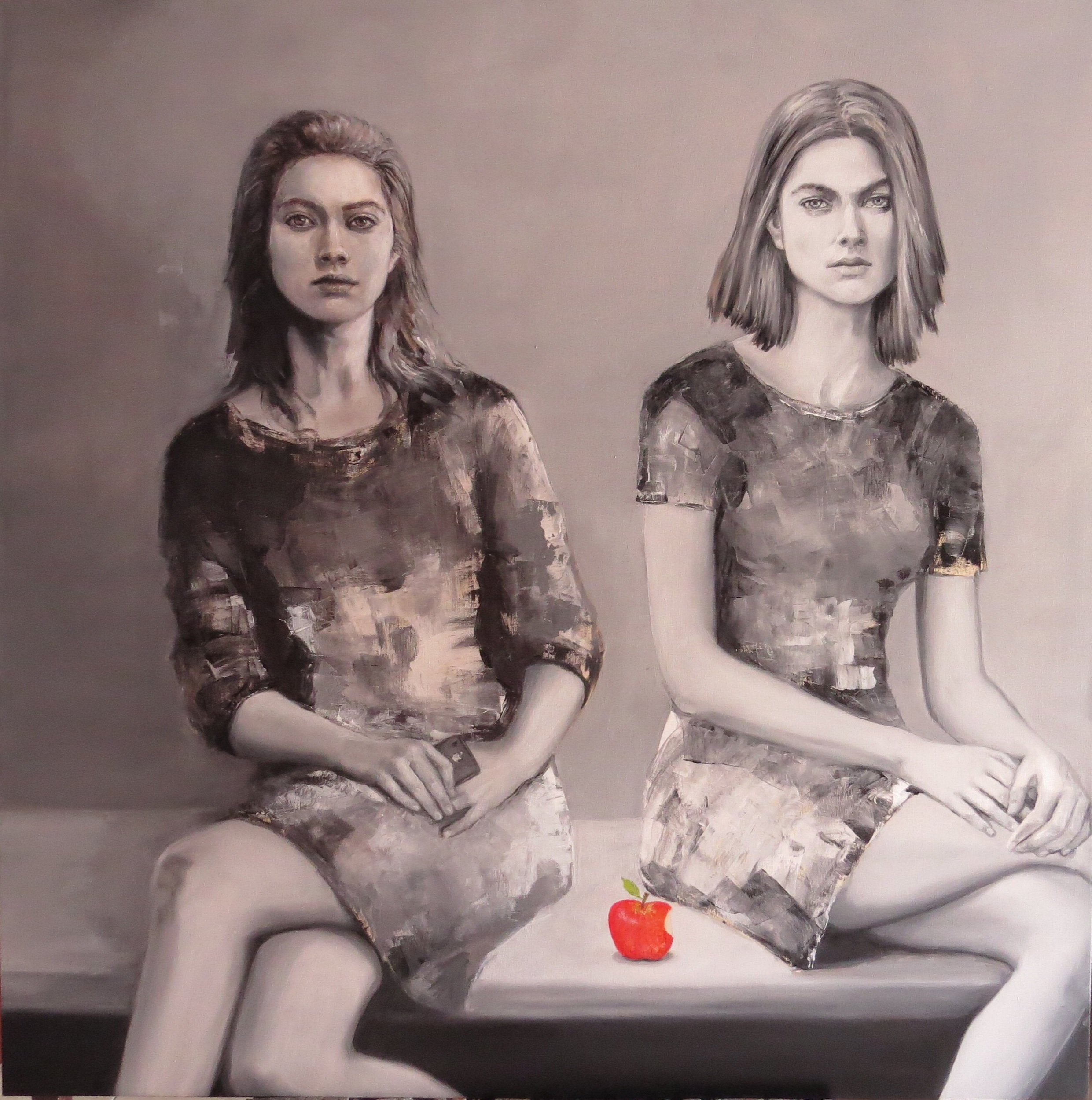 "Apple"" oil on canvas 1.20m x 1.20m"