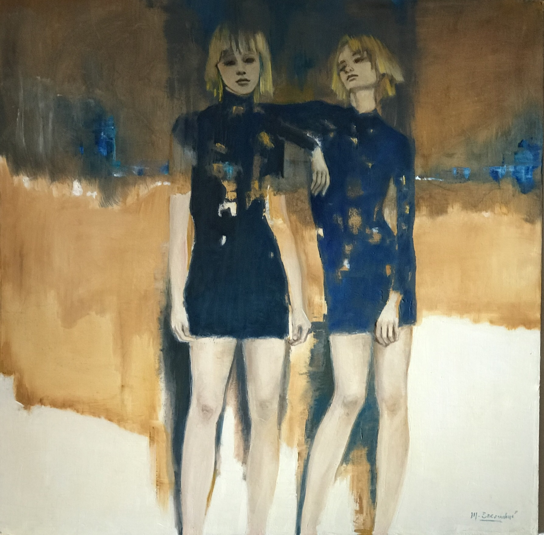 """Hermanas"" oil on canvas 1.20m x 1.20m"