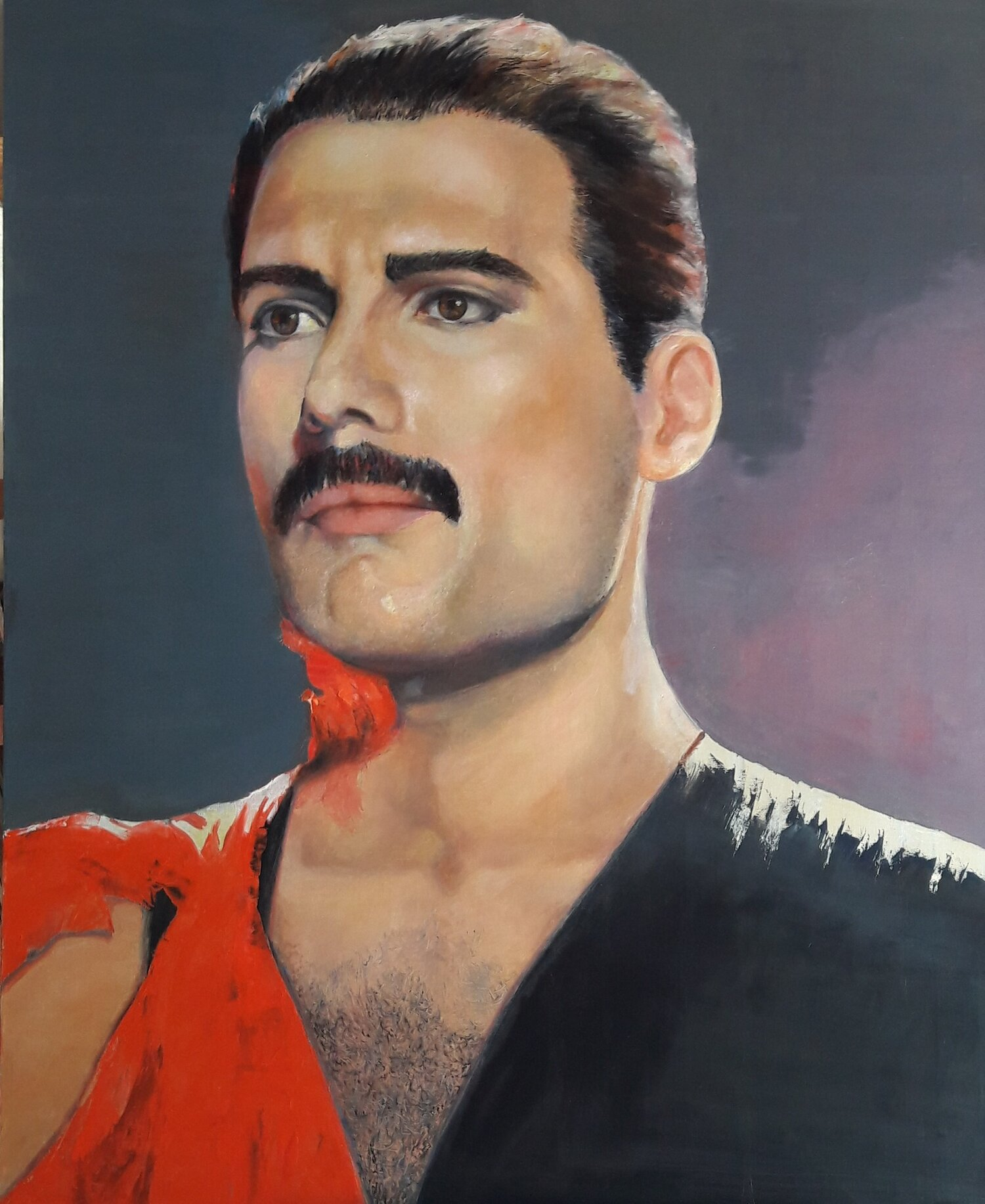 """Freddie"" oil on canvas 1.60m x 1.20m 2018"