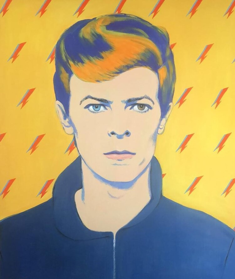 "David Bowie"" acrílic on can as 1.40m x 1.20m"