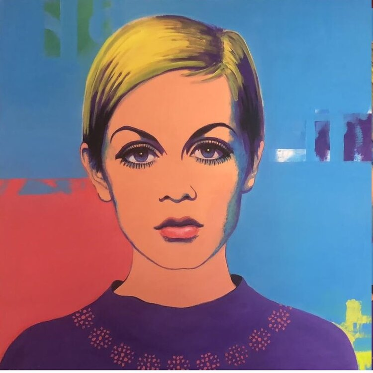 """ Twiggy"" acrilic on can as 1.20m x 1.20m"