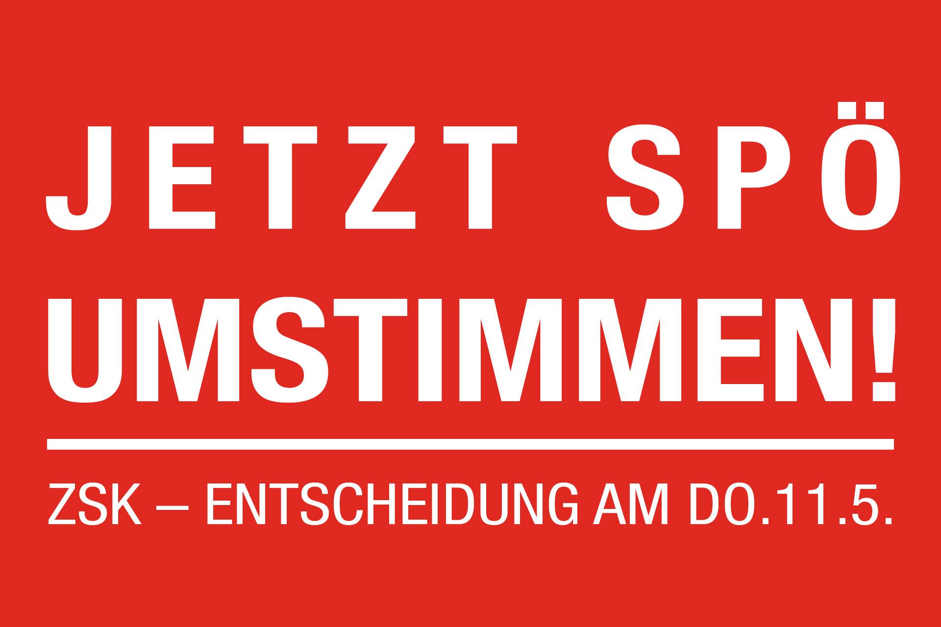 Jetzt SPÖ umstimmen!