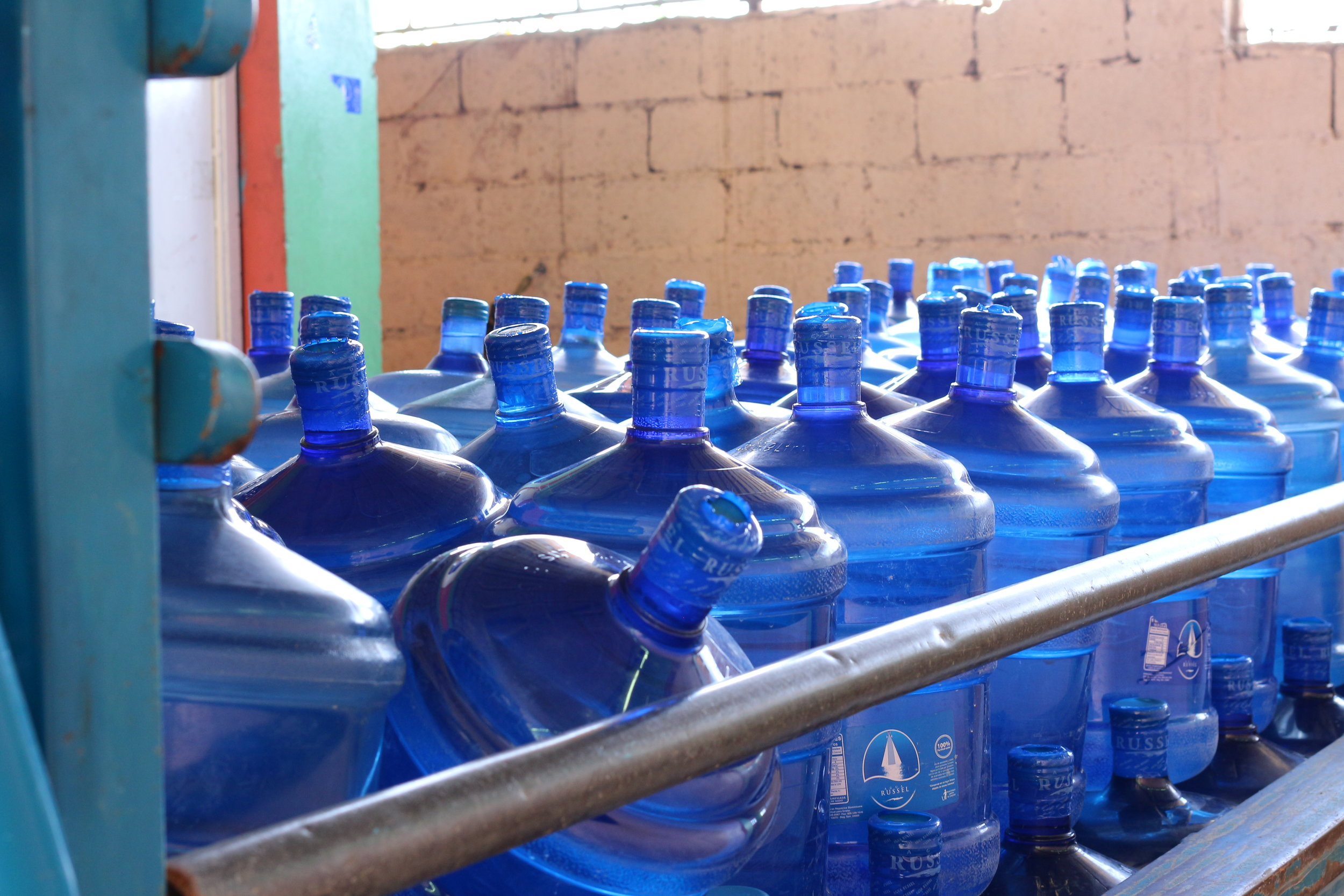 Water ready for delivery to the community