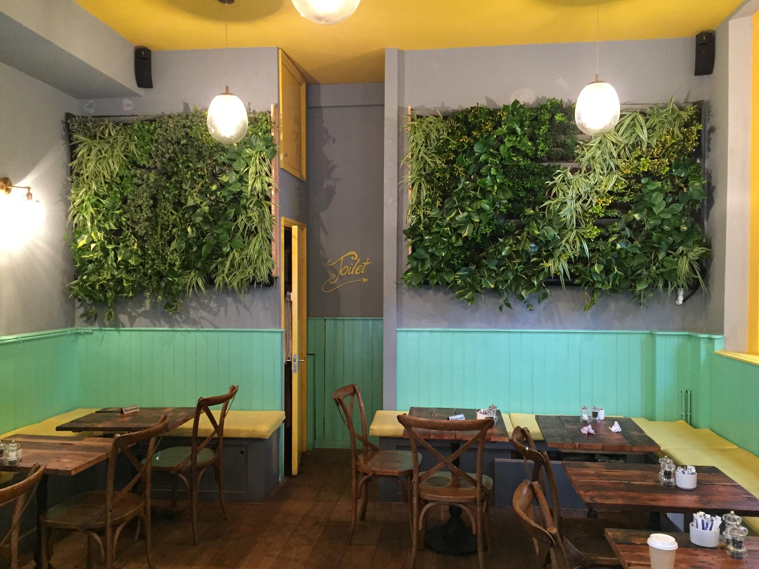 Interior wall hung