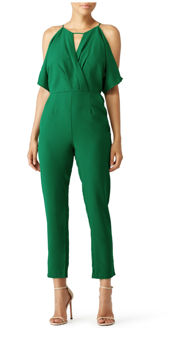 Green Kimono Sleeve Jumpsuit