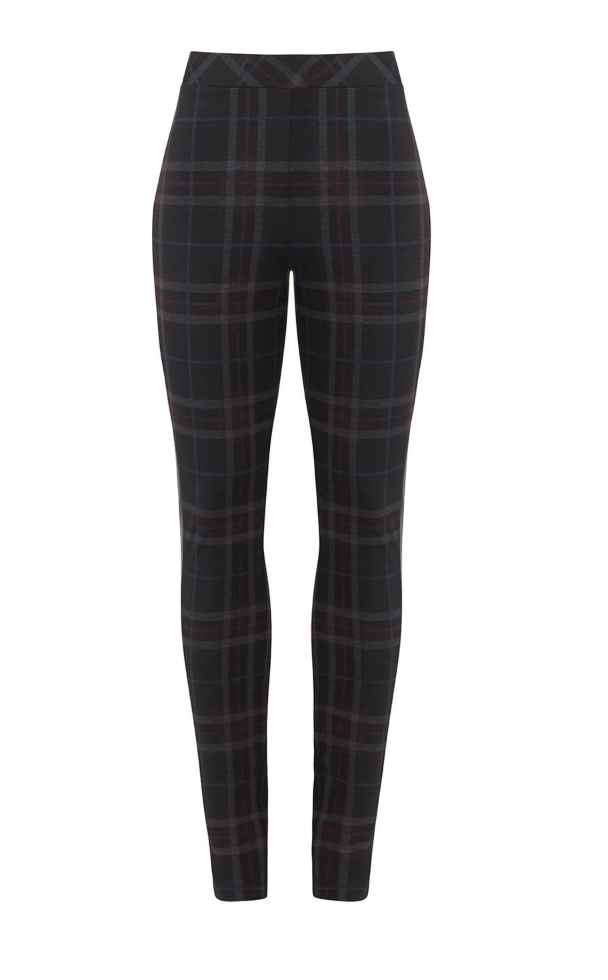 Black Plaid Leggings