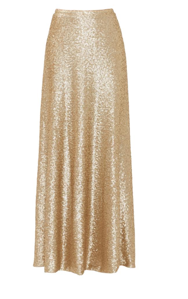 Gold Cecilia Maxi Skirt