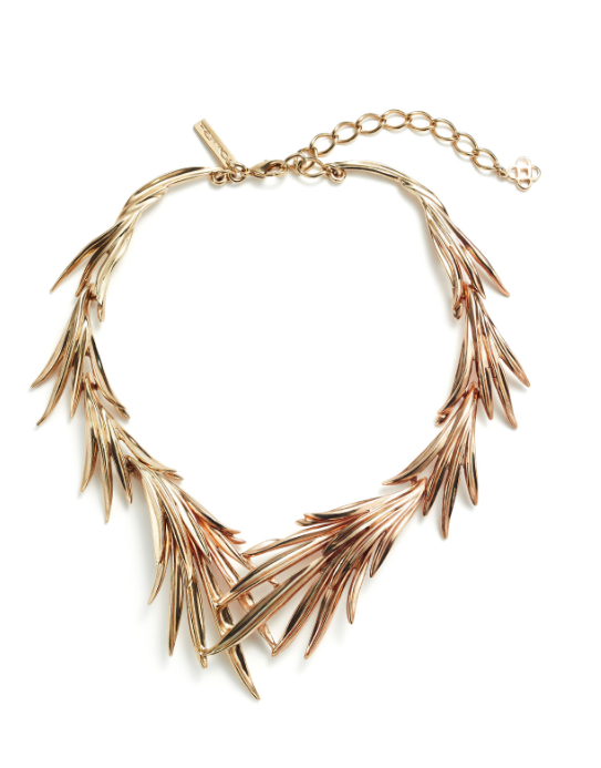 Gold Leaf Palm Necklace