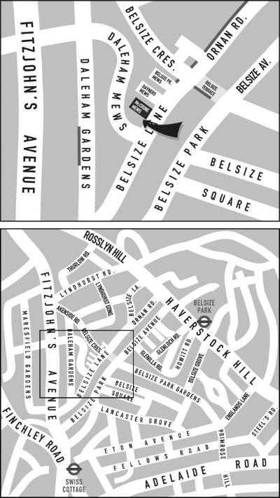 BodyMatters Clinic Belsize Park Map