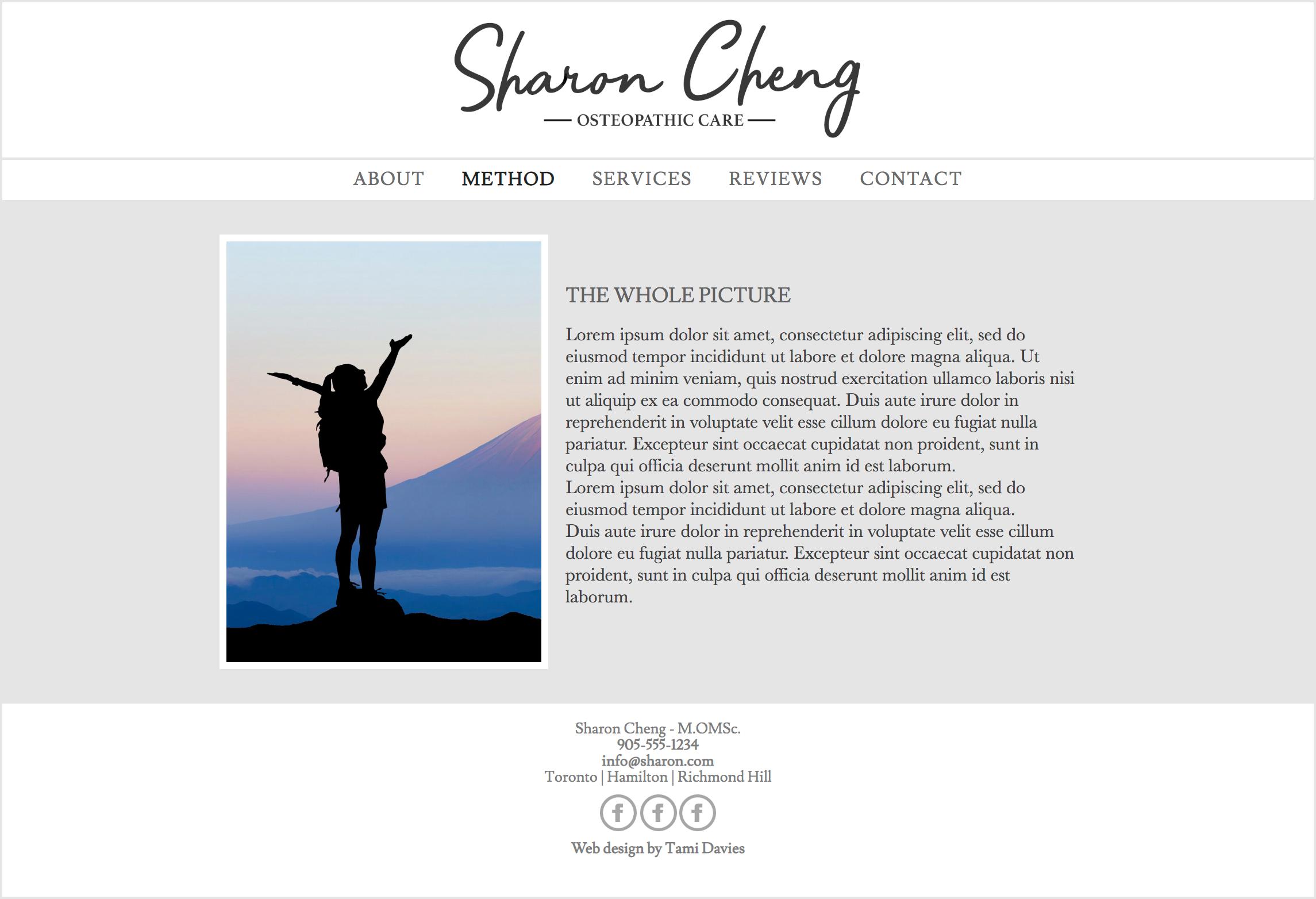 Website method page - Desktop (Hand coded)