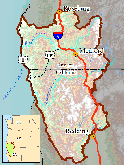 Klamath-Siskiyou Wildlands Center on klamath mountains map, lake of the woods map, klamath marsh map, trinity lake map, klamath national forest map, highland map, morgan hill map, klamath basin map, lower klamath national wildlife refuge map, southern oregon northern california map, klamath lake map, prairie creek redwoods state park map, trinity county map, roosevelt national forest trail map, oregon rivers map, klamath county map, six rivers national forest map, humboldt county map, redwood national and state parks map,