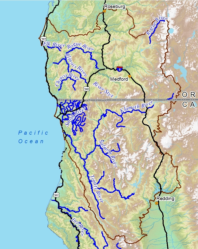 On only 1% of the land base in the lower 48, the Klamath Siskiyou is home to over 10% of the Wild and Scenic Rivers. This is the largest concentration of Wild and Scenic Rivers in the lower 48 states!