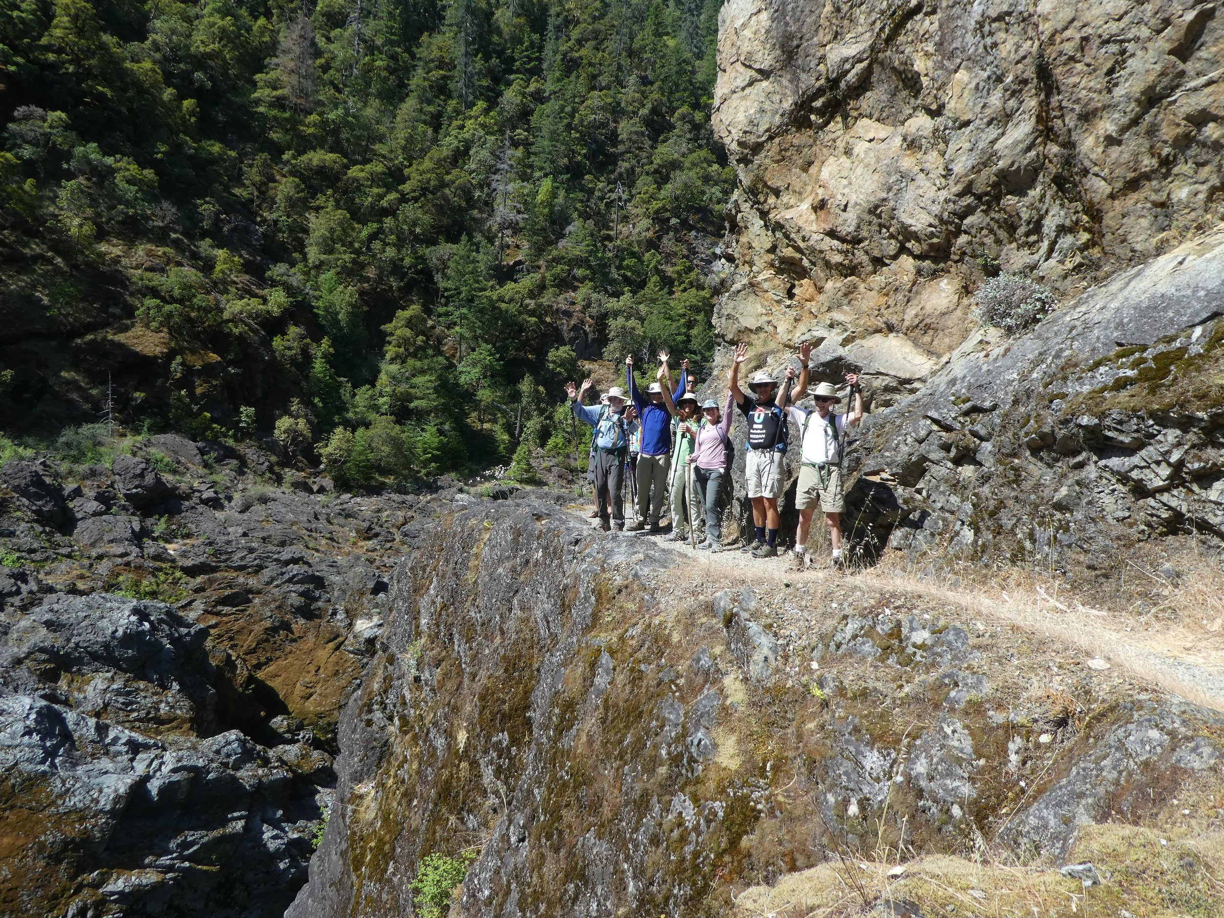 Hike with new friends in spectacular scenery