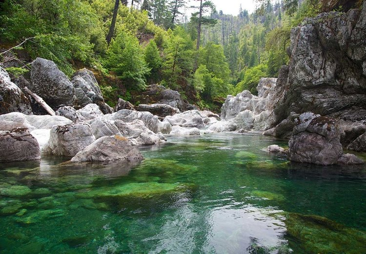 Chetco River Headwaters. Stunning in the purity and clarity of the water. .