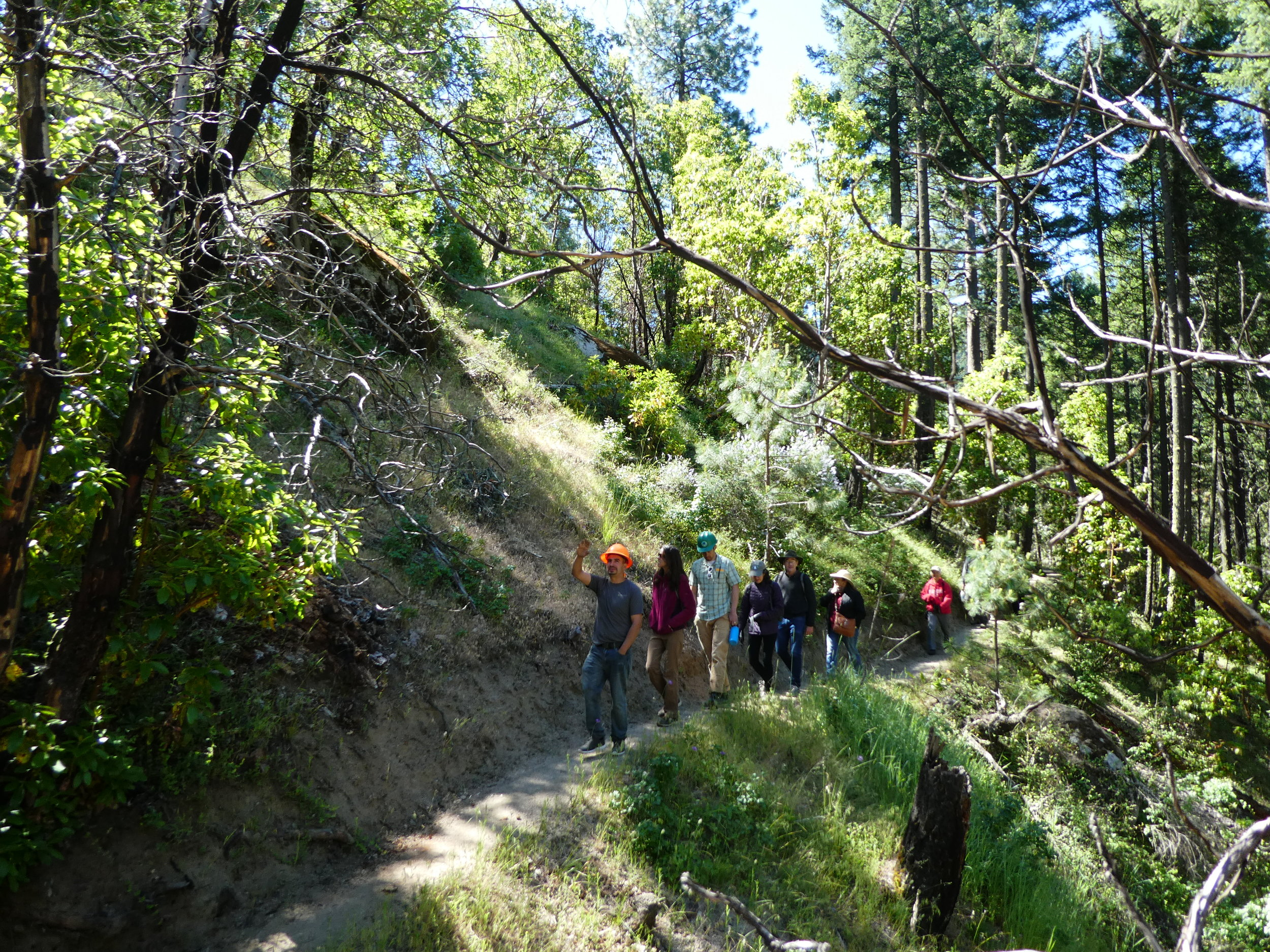 On the trail with Lomakatsi and Northwest Forest Workers.