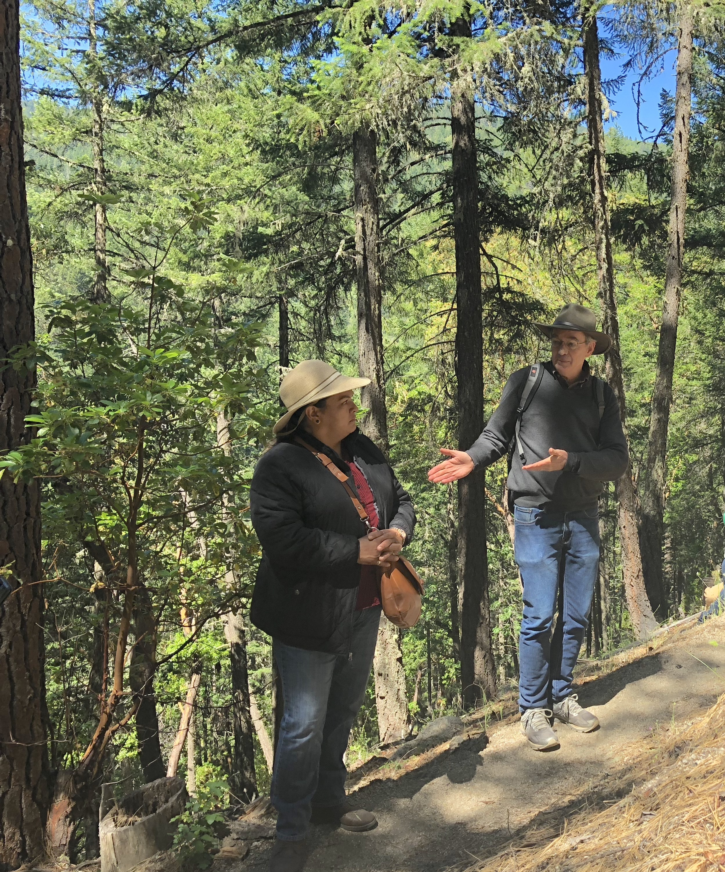 Carl Wilmsen and Martha Valle Hernandez from the Northwest Forest Worker Center.