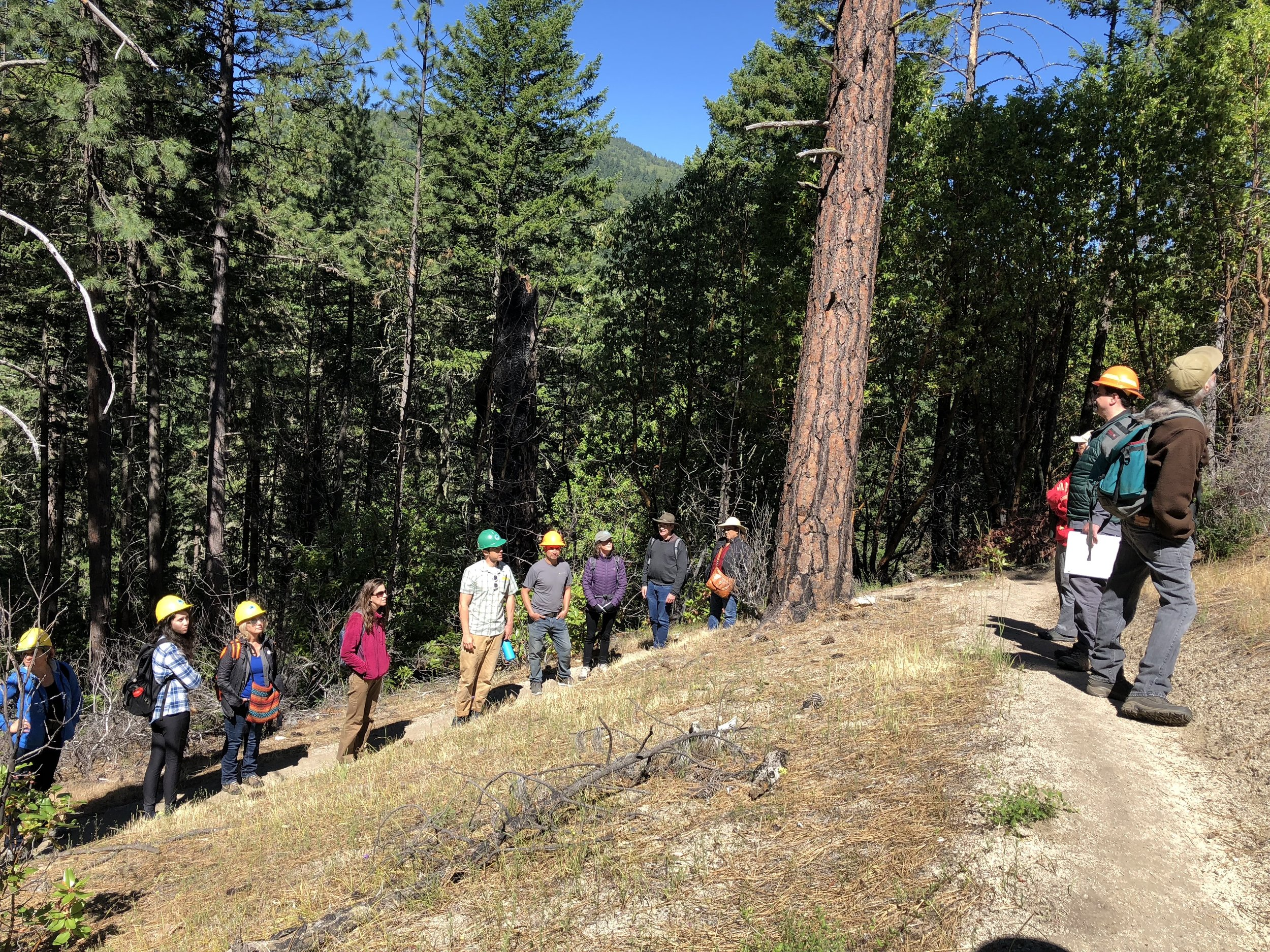 Lomakatsi explaining principles of ecological restoration