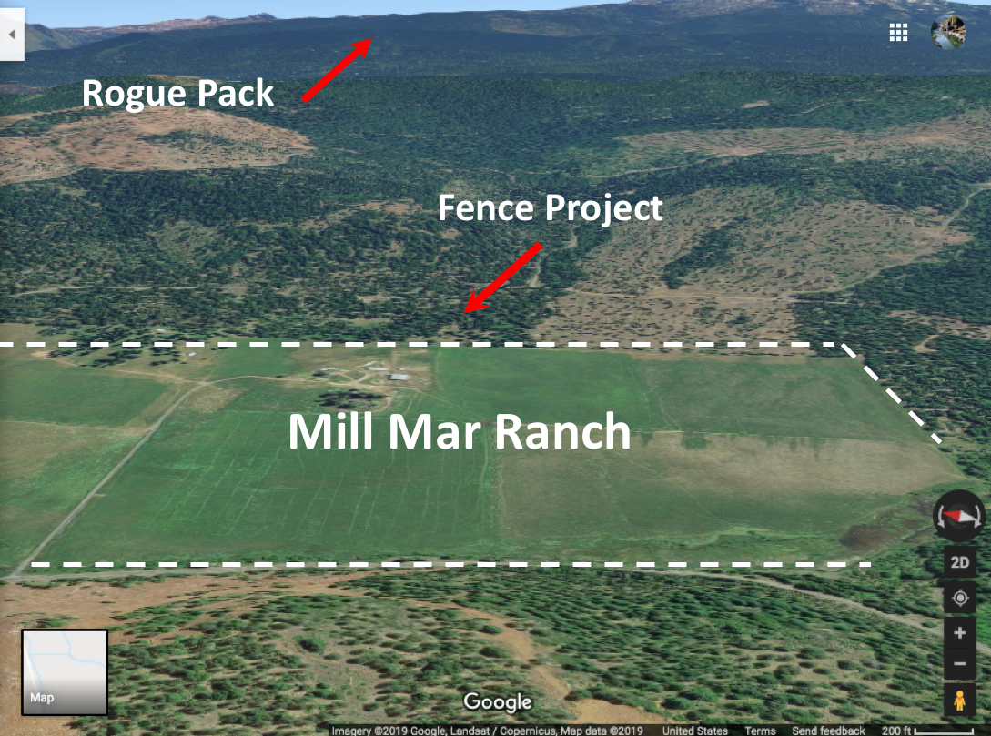 Site of the proposed fence
