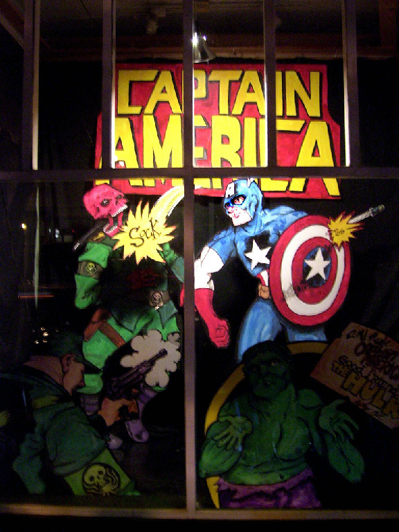 Captain America. Window by Matt DeLight.