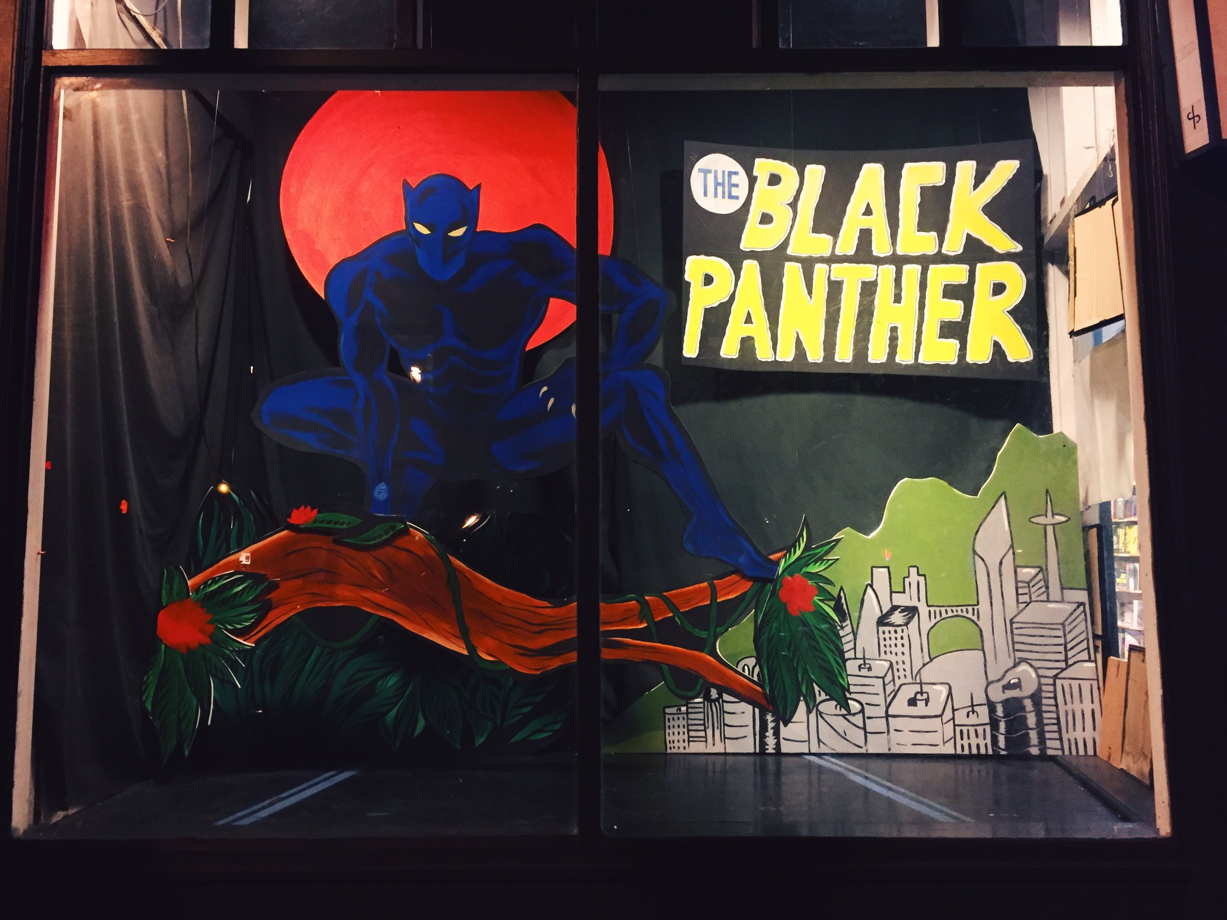 The Black Panther. Black Panther (c) Marvel. Done for the movie release February 2018.