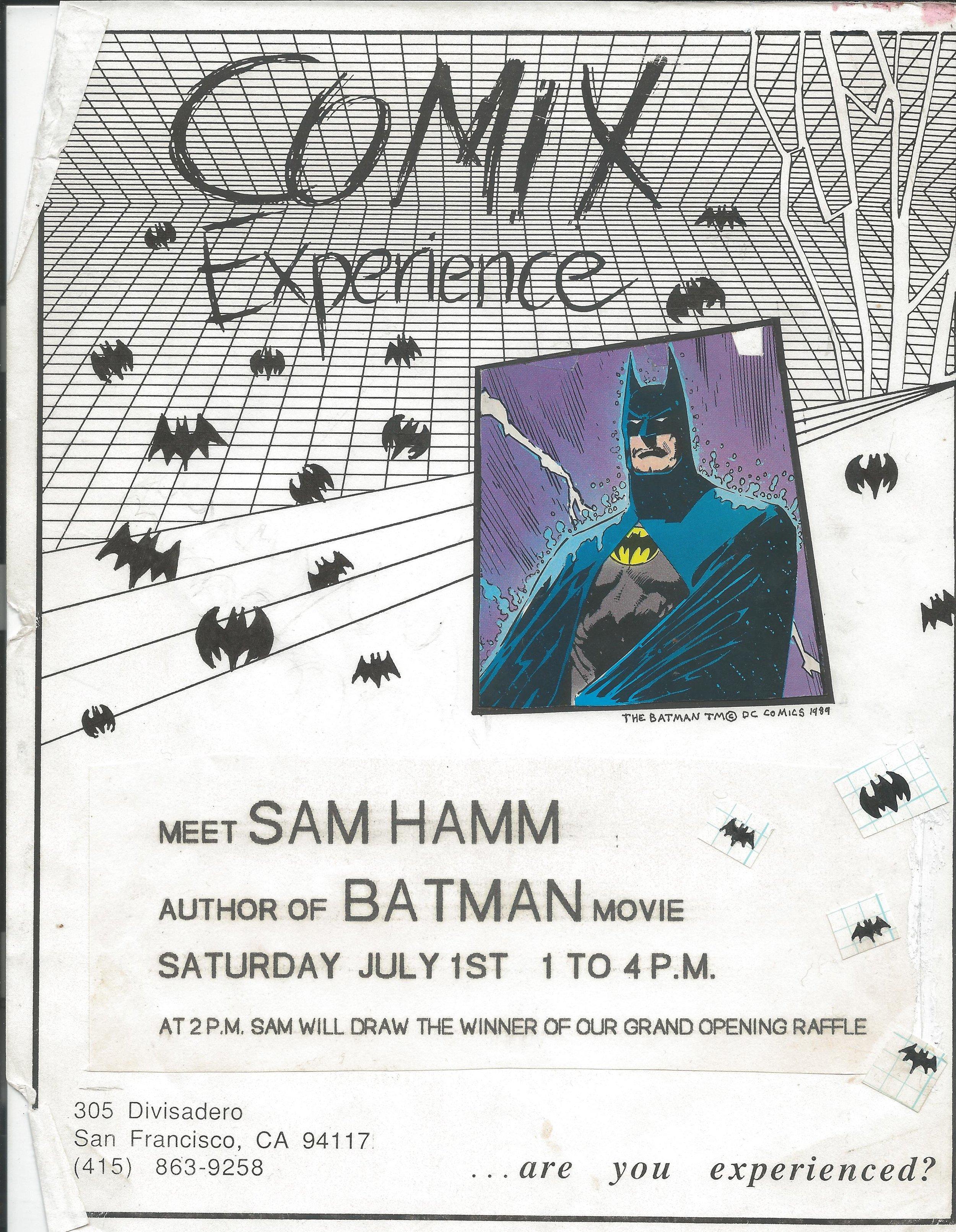 1989 0701 Sam Hamm flier.jpg