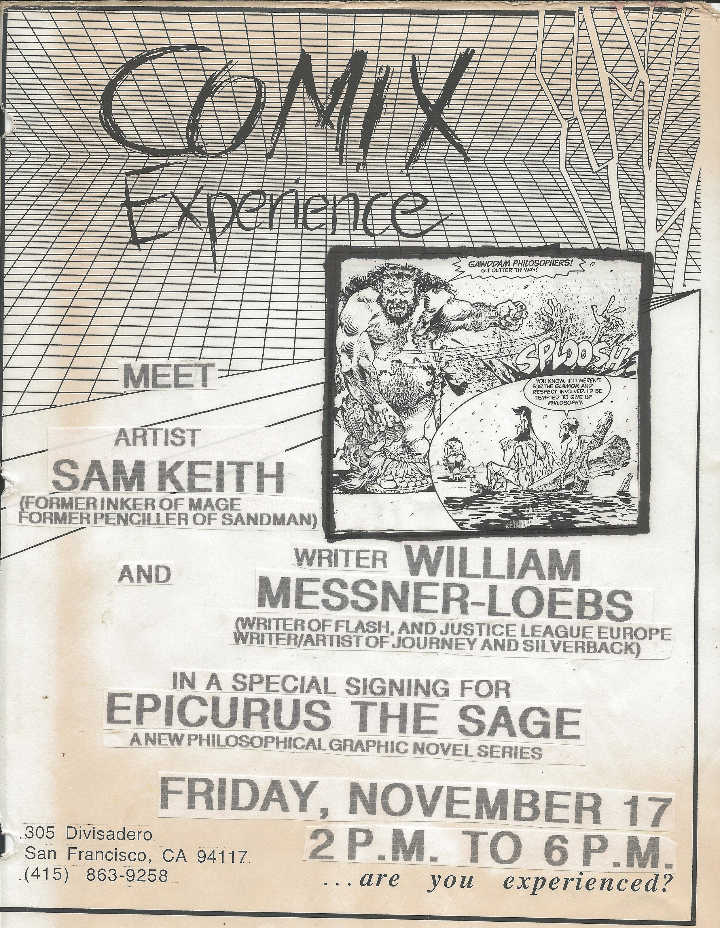 1989 1117 Sam Keith and William Messner Loebs Flier.jpg