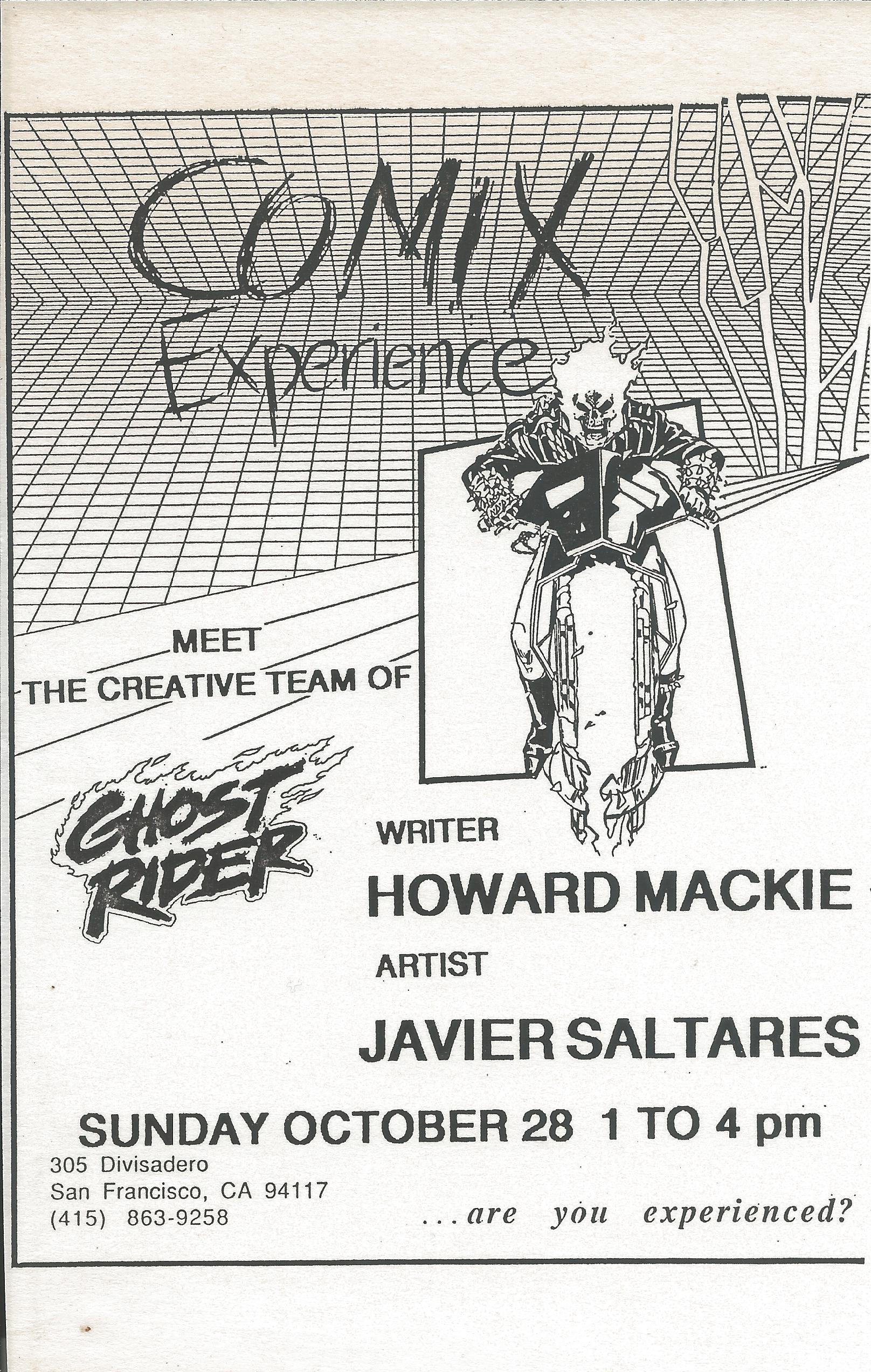 1990 1028 Javier Saltares Flier.jpg