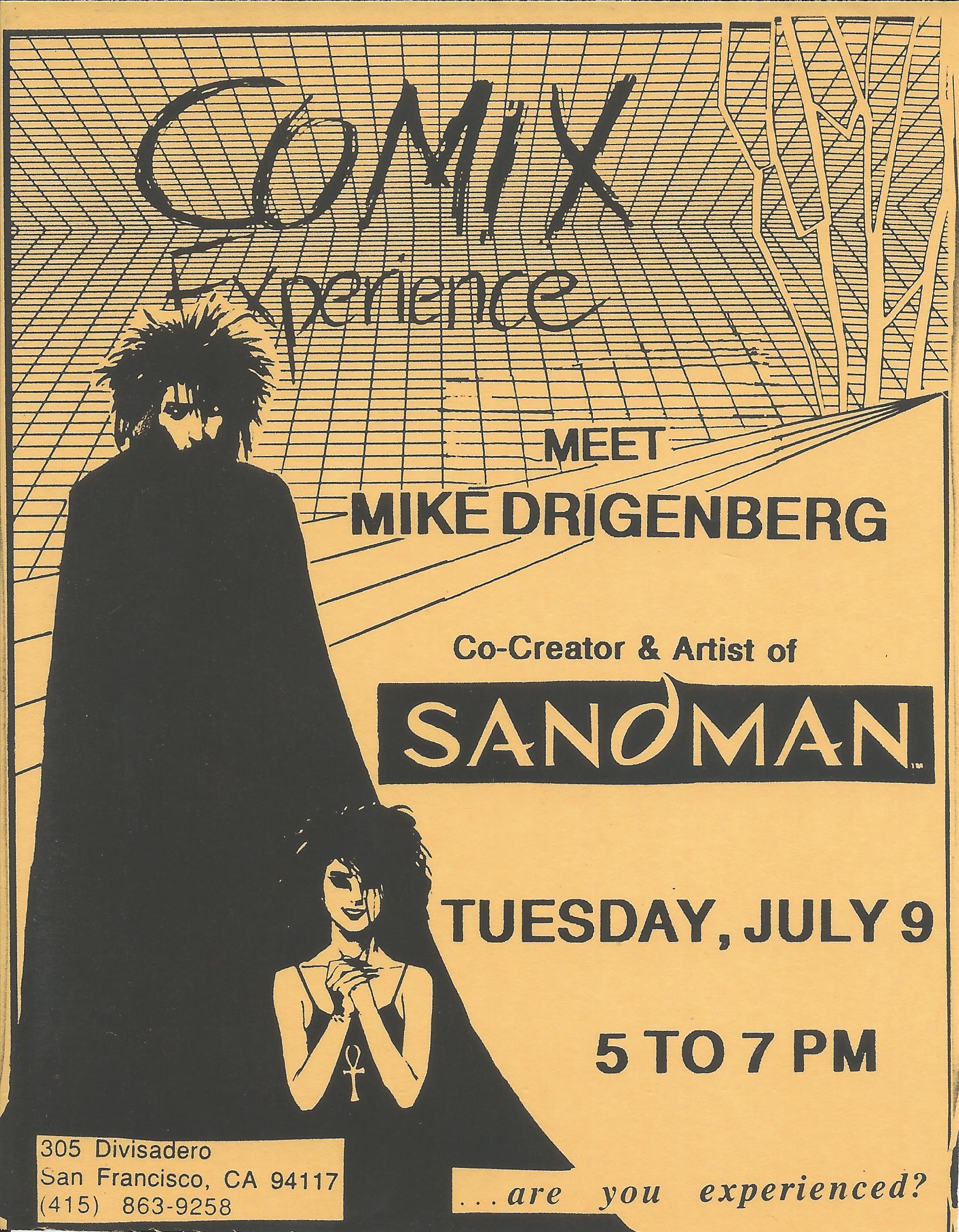 1991 0701 Mike Dringenberg Flier.jpg