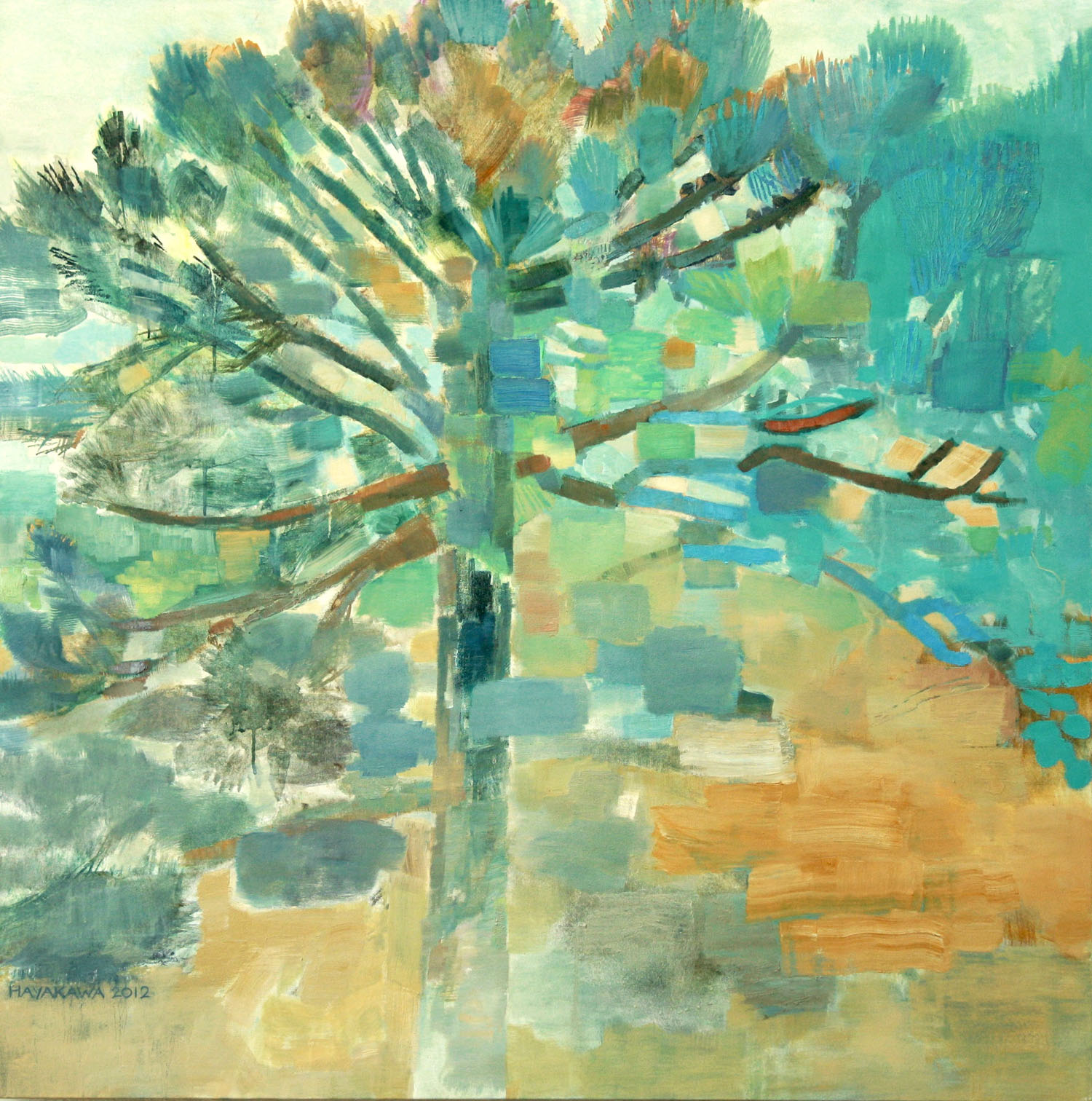 NEAR THE LAKE  •  oil on canvas  •  40 by 40 inches  •  2012