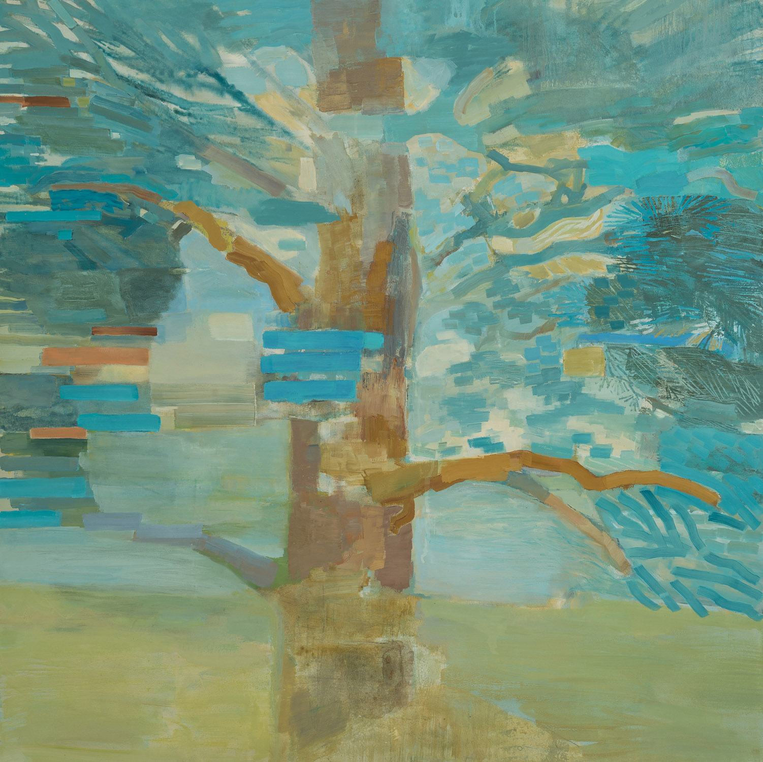 AUGUST CONIFER • oil on canvas • 40 by 40 inches • 2012