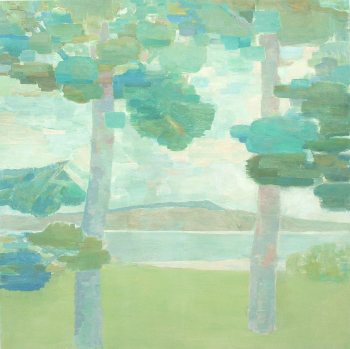 LOOKING NORTH  •  oil on canvas  •  58 by 58 inches  •  2011