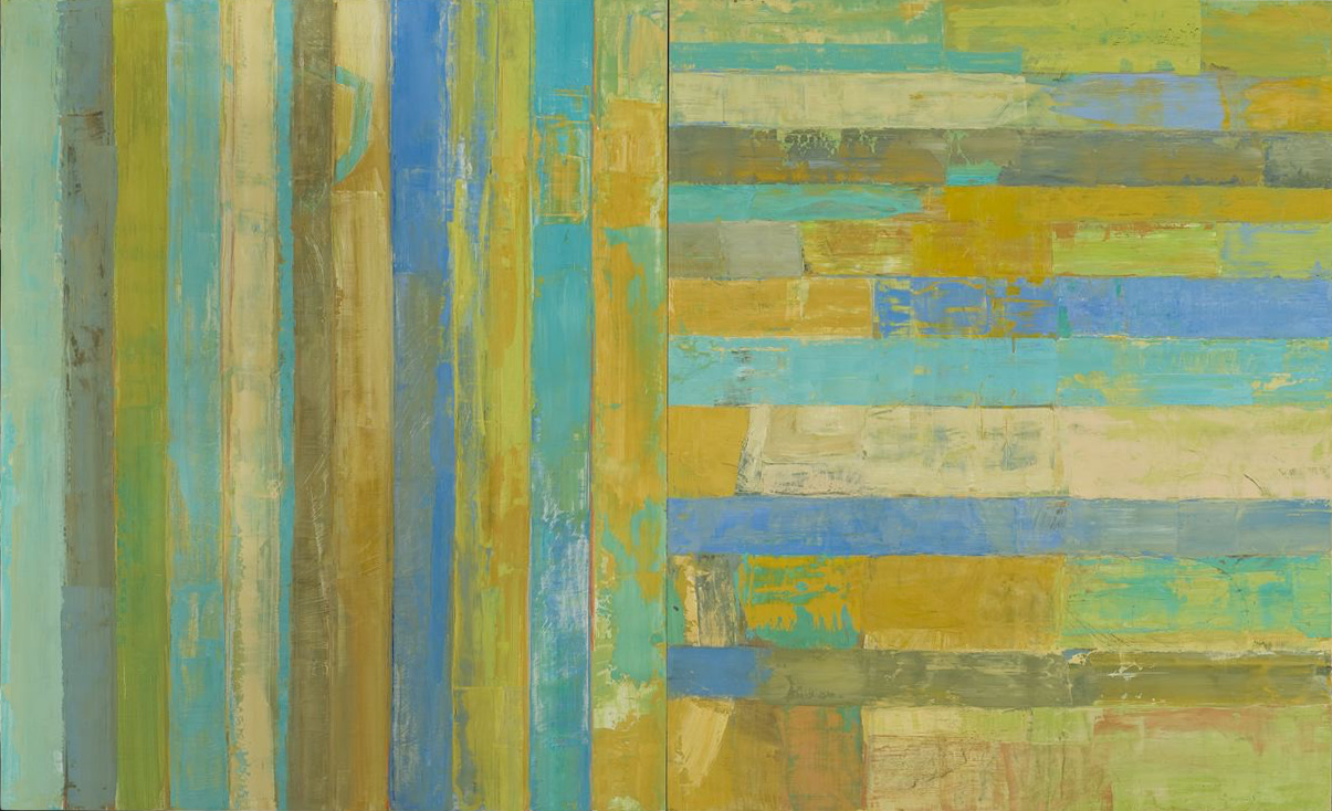 PLACE  •  oil on wood diptych  •  44 by 72 inches  •  2009