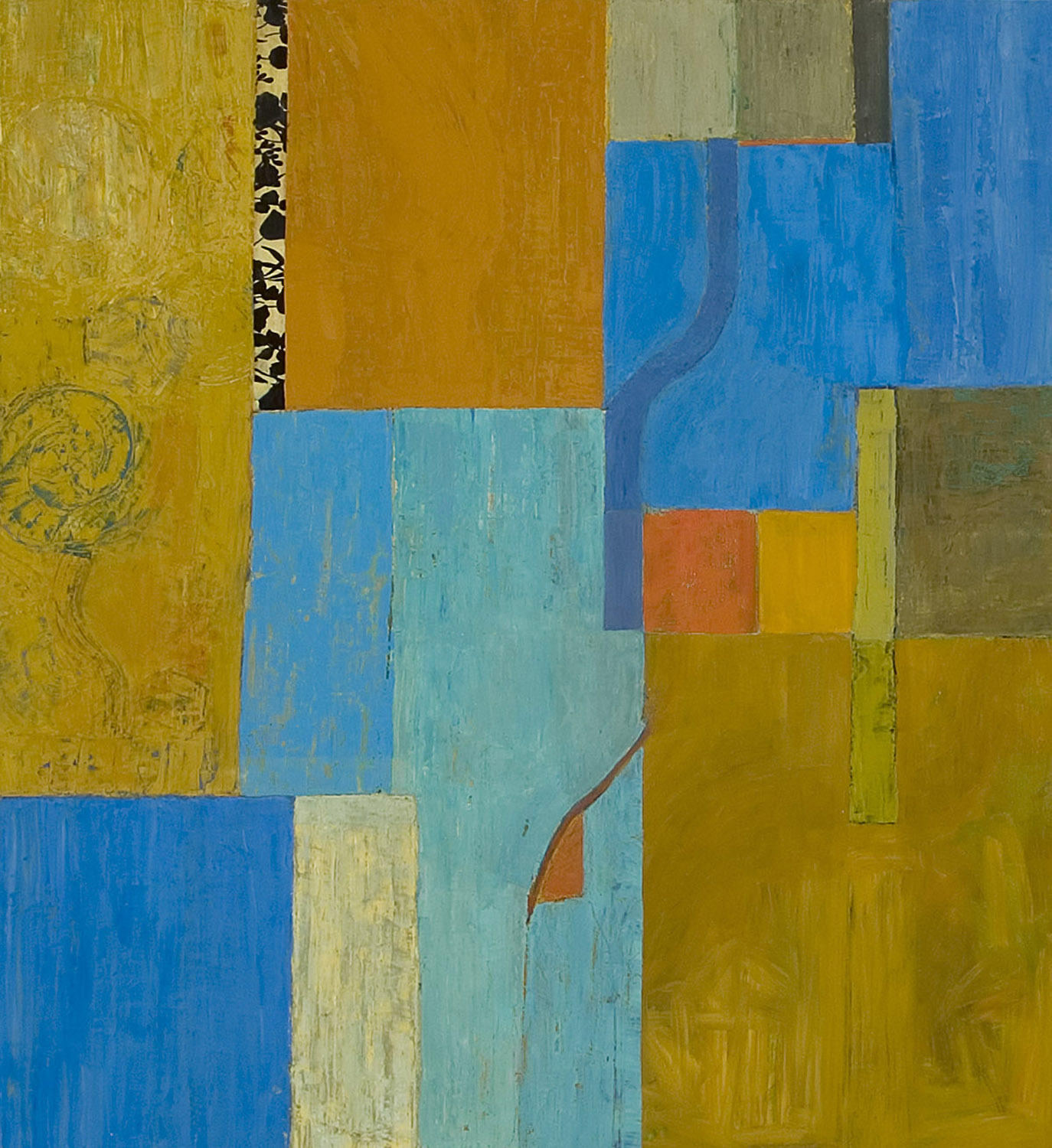 FALL  •  oil and silk on wood  •  52 by 44 inches  •  2006