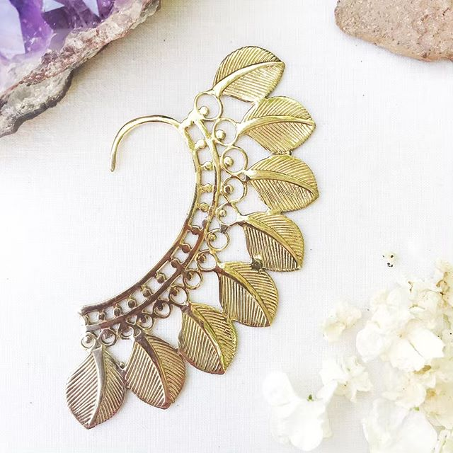 ✨✨✨brass ear cuff: a perfect accent for festival season ✨✨✨