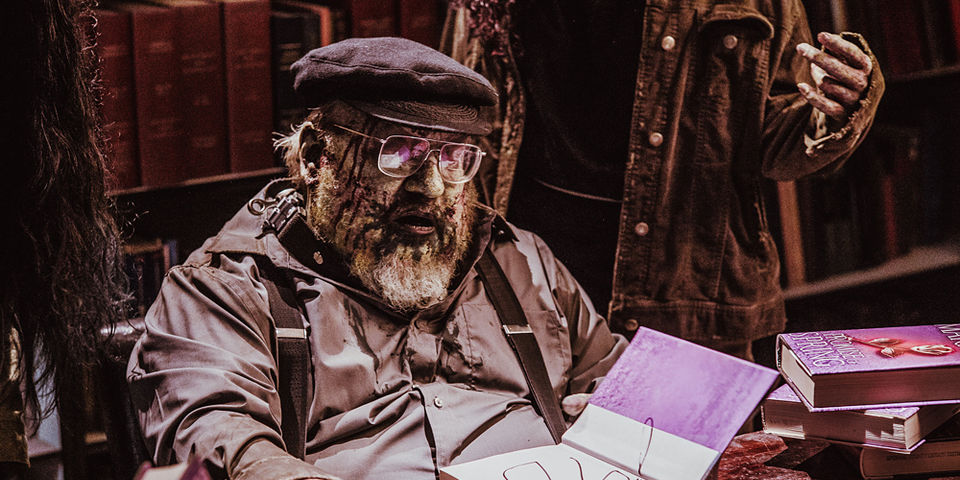 Undead George RR Martin - How can you be mad at this level of fan service?
