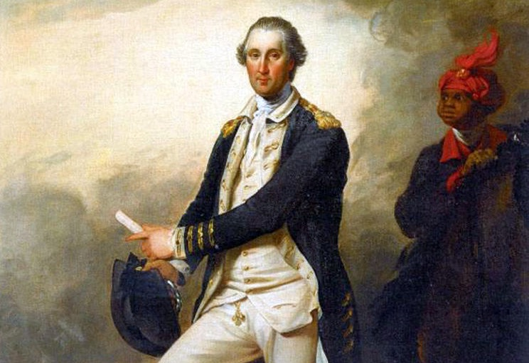 "John Trumbull's portrait of George Washington and William ""Billy"" Lee."