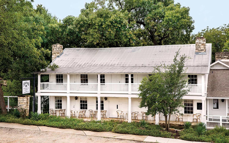 """Texas Monthly article — """"The newly reopened hotel and restaurant finds itself at the center of this small town's rebirth."""""""